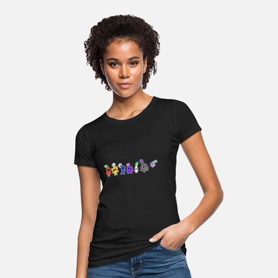 Gift Idea T-Shirts - flowers - Women's Organic T-Shirt black