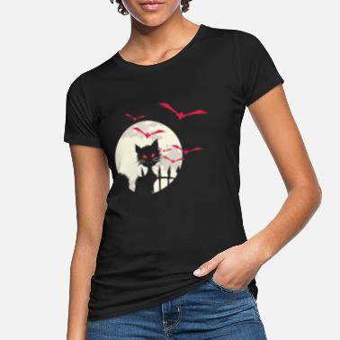 Cat Moon Moon, Cat and Bats - Halloween - Gift - Women's Organic T-Shirt