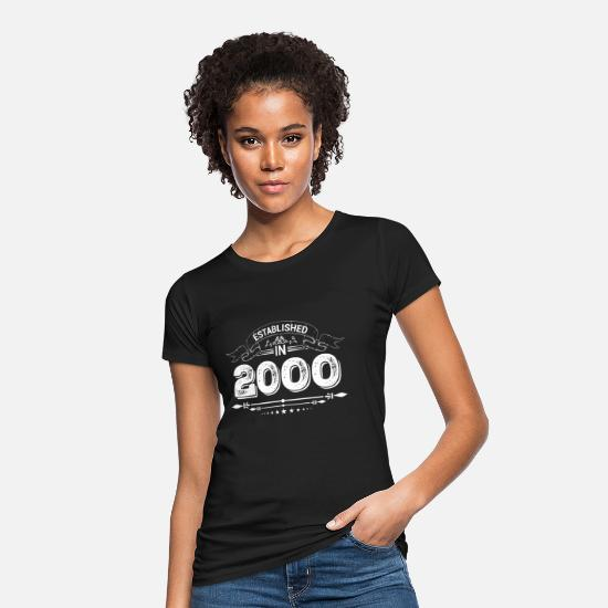 Established T-Shirts - Established in 2000 - Women's Organic T-Shirt black