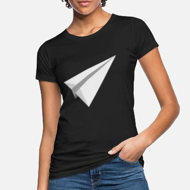 Paper Airplane Paper plane airplane toy throwing gift - Women's Organic T-Shirt