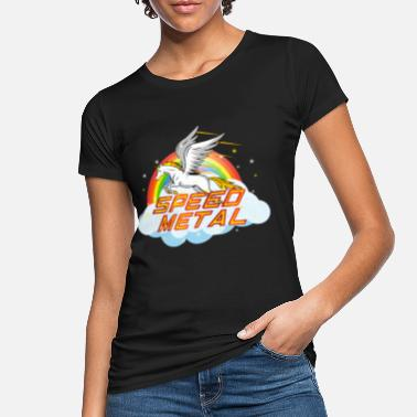 Speed Metal Funny Speed Metal Rainbow Unicornio - Camiseta orgánica mujer