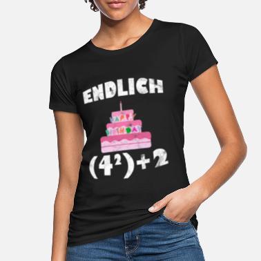 Donna T-shirt Regalo di compleanno finalmente 18 College Stile maggiorenni adulto