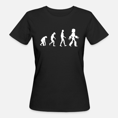 Evolution Roboter Roboter Evolution - Frauen Bio-T-Shirt
