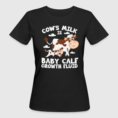 Vegan, cow's milk is for cows - Women's Organic T-Shirt