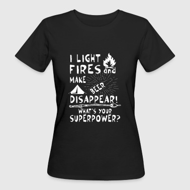 Make beer disappear! What's your superpower? - Camiseta ecológica mujer