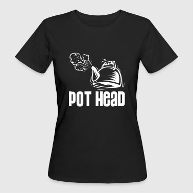 Pot Head - steam coffee & tea water boiler - Ekologisk T-shirt dam