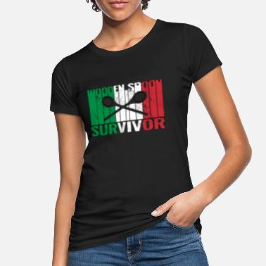 Friends Of Italy Wooden Spoon Survivor With Italy Flag - Women's Organic T-Shirt