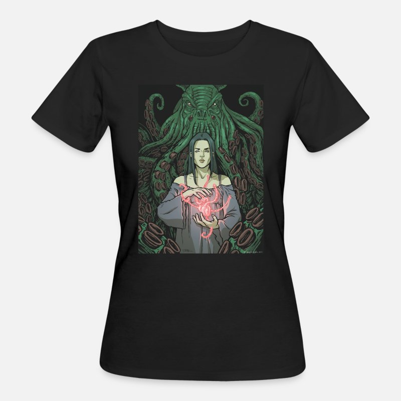 Collections T-Shirts - Lovecraft - 01 - Frauen Bio T-Shirt Schwarz