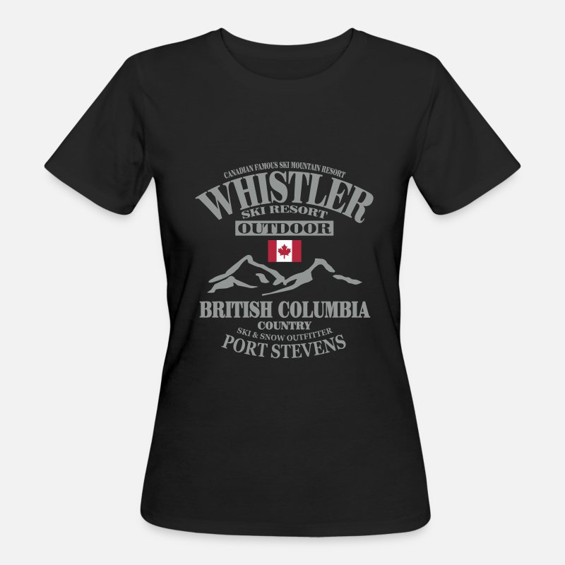 Canada T-Shirts - Whistler Ski Resort - Canada - Women's Organic T-Shirt black