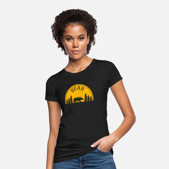 Nature T-Shirts - Bear - Women's Organic T-Shirt black