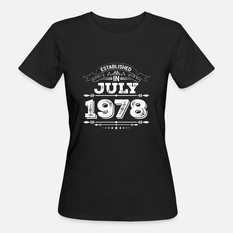 Established T-Shirts - Opgericht in juli 1978 - Vrouwen bio T-shirt zwart