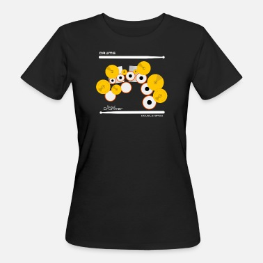 Drum Stokjes Drums Double Bass White - Vrouwen Bio-T-shirt