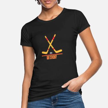 Puck Hockey - hockey stick and puck - Women's Organic T-Shirt