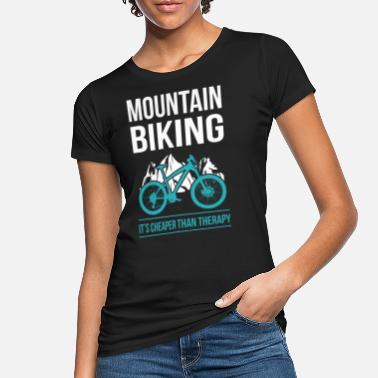 Mountainbiken Mountainbiker Mountainbike Mountainbiken Geschenk - Frauen Bio T-Shirt