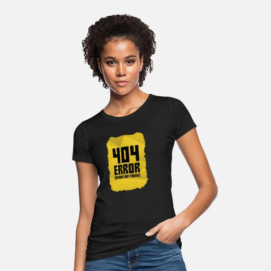 Computer T-Shirts - Error message computer gift computer science warning - Women's Organic T-Shirt black