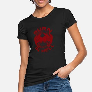 Teufelsweib Burn in hell - Frauen Bio T-Shirt