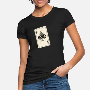 Cards To Die, Sleep Ace of Spades Playing Card - Vrouwen bio T-shirt