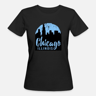 Windy City Chicago Amerika USA Windy City Illinois Gift - Ekologisk T-shirt dam