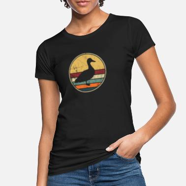 Ente Ente Vintage Retro Distressed Look Enten Geflügel - Frauen Bio T-Shirt
