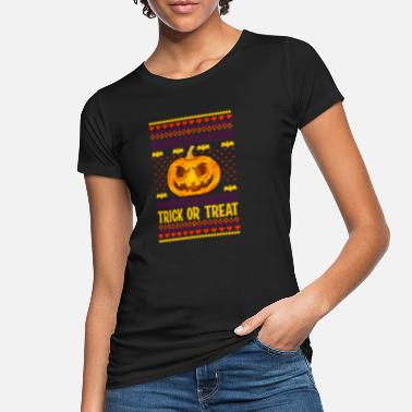 Græskar Trick or Treat kostume Ugly Halloween - Økologisk T-shirt dame