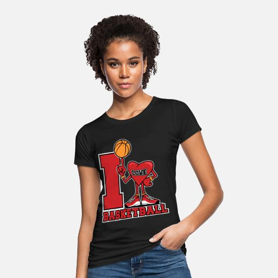 Love T-Shirts - I love basketball - Women's Organic T-Shirt black