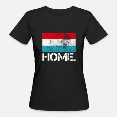 Luxembourg Football Accueil Luxembourg | Drapeau | Look usagé - T-shirt bio Femme