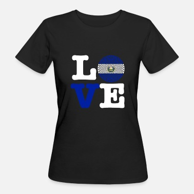 El Salvador EL SALVADOR HERZ - Camiseta ecológica mujer 7b55fbfbf9d13