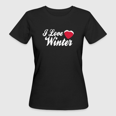 I love winter with heart 2c - Women's Organic T-Shirt