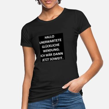 Application HELLO UNAUDITED HAPPY APPLICATION. - Ekologisk T-shirt dam