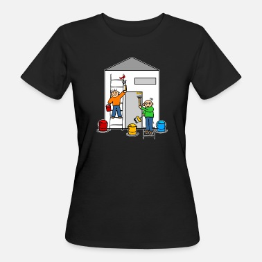 House Keeper Painter or house painter paint a house - Women's Organic T-Shirt
