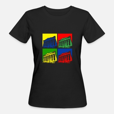 Artfetish Pop Art Griekenland - Vrouwen Bio-T-shirt