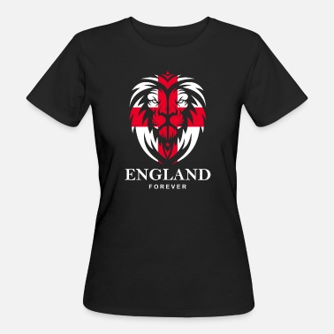Cross Of St George ENGLAND LION HEAD WITH ST. GEORG CROSS - Women's Organic T-Shirt