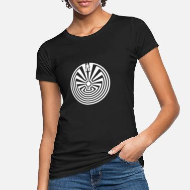 Labyrint Mand i labyrinth indian symbol labyrint tegn yoga - Økologisk T-shirt dame
