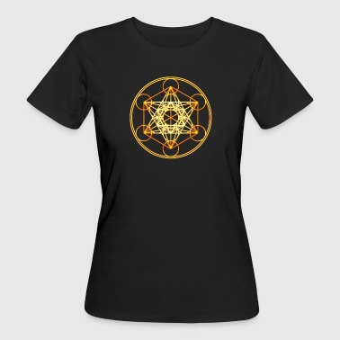 Metatron's Cube Sacred Geometry Mathematics Math - Women's Organic T-shirt