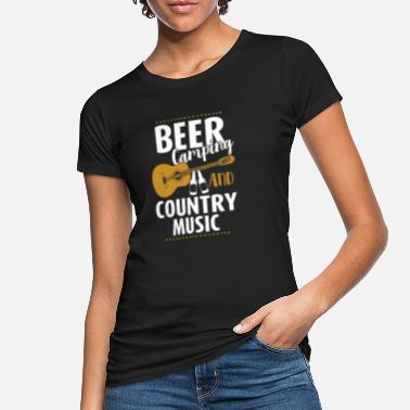 Hillbilly Beer Camping And Country Music - Ekologisk T-shirt dam