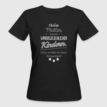 Stolze Mutter zwei Kinder - Frauen Bio-T-Shirt