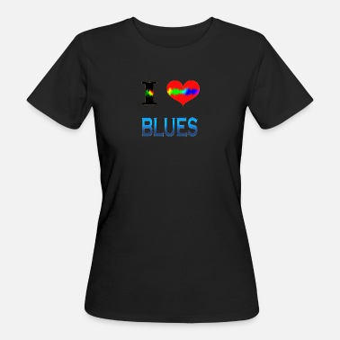 Blues Amo BLUES - T-shirt ecologica da donna