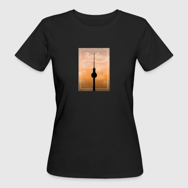 Silueta Berlin TV Tower Gift Holiday BLN - Camiseta ecológica mujer