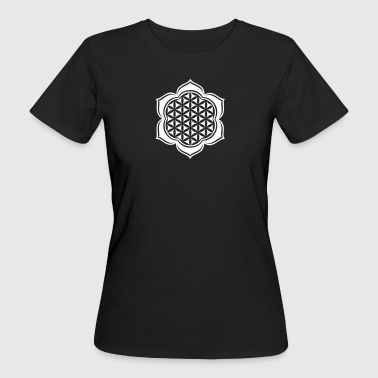 Protective Symbol Flower of life, Lotus-Flower, vector, c, energy symbol, protection symbol - Women's Organic T-Shirt
