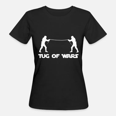 Tugging tug of War - Women's Organic T-Shirt