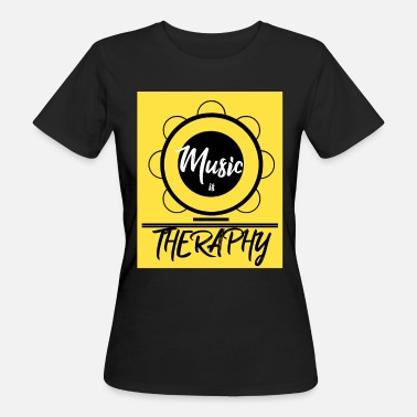 Tambourine Music therapy tambourine happiness joy gift idea - Women's Organic T-Shirt