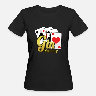 Gin Rummy Gin Rummy Cards TwoPlayer Card Game French Cards - Women's Organic T-Shirt