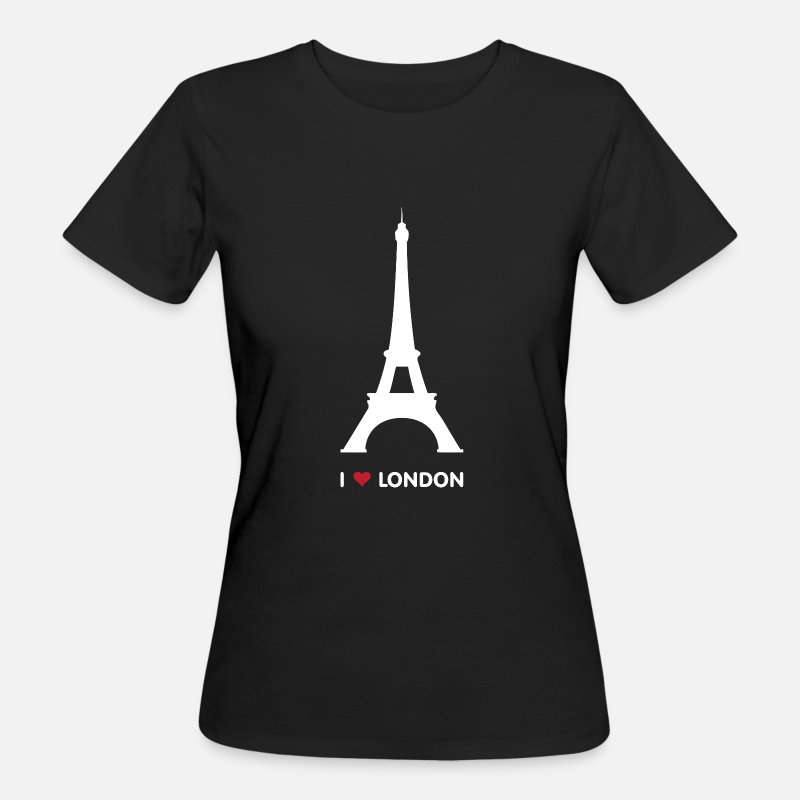 I Love London T-Shirts - I love London - Vrouwen bio T-shirt zwart