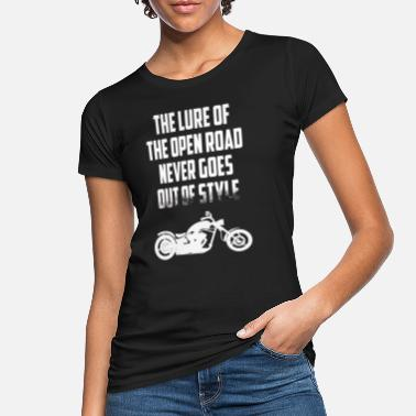 Verlockungen Motorrad Motiv The Lure Of The Road - Lustiger S - Frauen Bio T-Shirt
