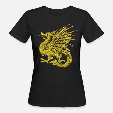Fairy Tail Dragon Golden dragon dragon fairy tale fantasy gift - Women's Organic T-Shirt