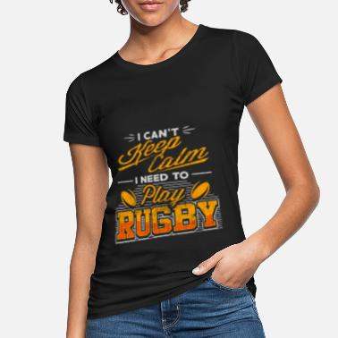 Two rotating rugby balls - rugby - Women's Organic T-Shirt
