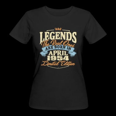 Real legends are born in april 1954 - Women's Organic T-shirt