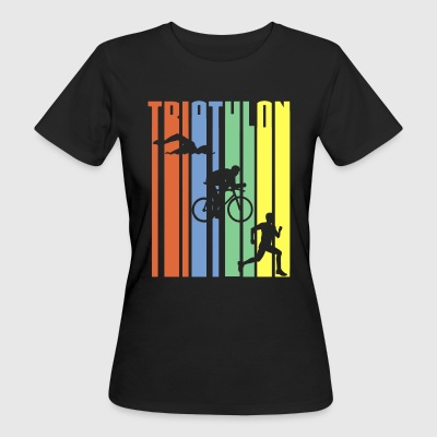 Triathlon - Stripes - Vrouwen Bio-T-shirt