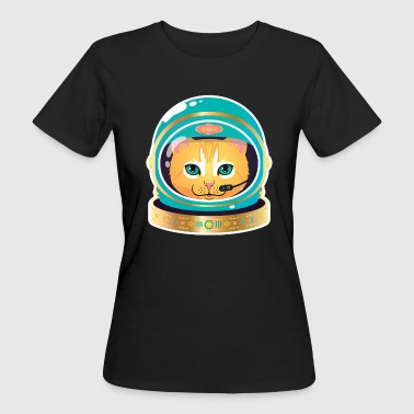 Cosmonaut Cat  - Frauen Bio-T-Shirt