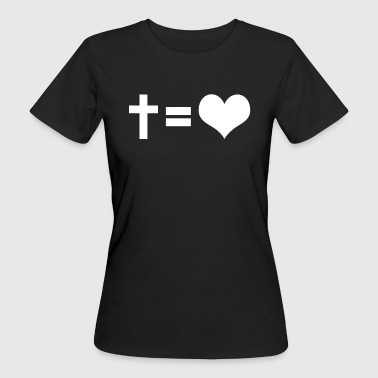 CROSS = AMORE - T-shirt ecologica da donna